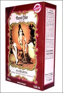 Henna Pulver, Henne Color, Mahagoni Dunkel (Auburn), 100g