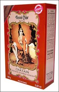 Henna Pulver, Henne Color, Kastanienbraun (Chatain), 100g