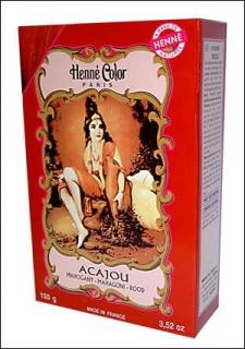 Henna Pulver, Henne Color, Mahagoni (Acajou), 100g