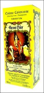 Henne Color, Henna Tönungscreme, Goldblond (Blond Dore), 90 ml