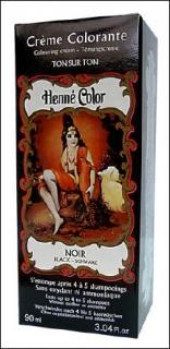 Henne Color, Henna Tönungscreme, Schwarz (Noir), 90 ml