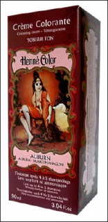 Henne Color, Henna Tönungscreme, Mahagoni dunkel (Auburn), 90 ml