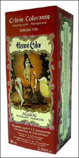 Henne Color, Henna Tönungscreme, Mahagoni (Acajou), 90 ml