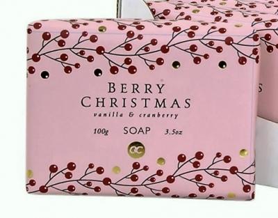 BERRY CHRISTMAS, Schafmilchseife, Almond & Elder, 100 g