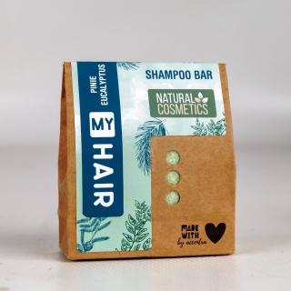 My Hair Festes Shampoo-Bar 60 g -Fichtennadel & Eukalyptus