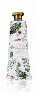 Winter Spa Hand- & Nagelcreme in 60 ml Tube weiss