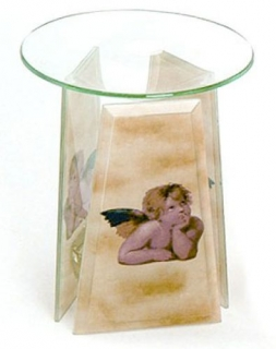 Aromalampe Raphael Engel, Glas
